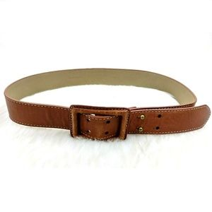 Talbots Brown Thick Buttery Soft Double Hole Belt